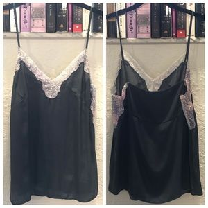 Zara Purple Grey Sequin Trim Strappy Cami